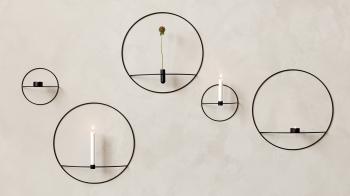 Menu designové nástěnné vázy/ svícny POV Oval Vase/ Candle Holder