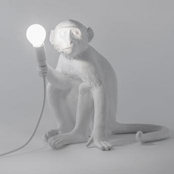 Výprodej Seletti designové stolní lampy Monkey Sedící (bílá)