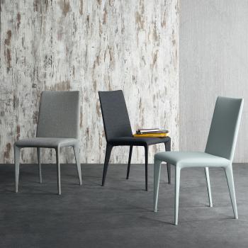 Výprodej Bonaldo designové židle Filly (bílá eko kůže)