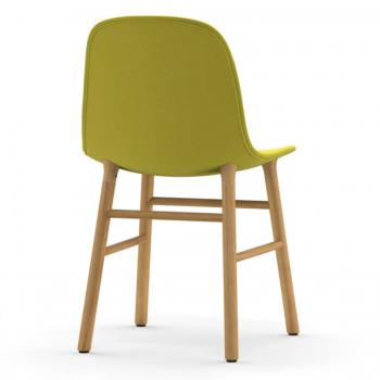 Výprodej Form Chair Wood (polstrování šedohnědé, přírodní dub)