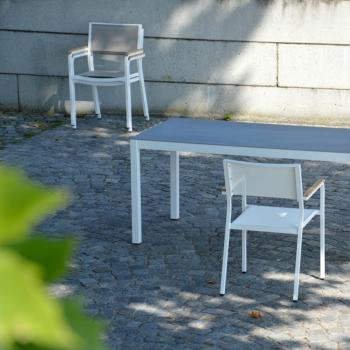 Výprodej Jan Kurtz designové zahradní židle Lux Alu (bílá, taupe)