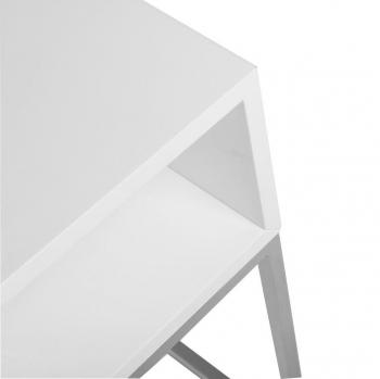 Výprodej Jan Kurtz designové noční stolky Dina light (bílá podnož, bílá deska)