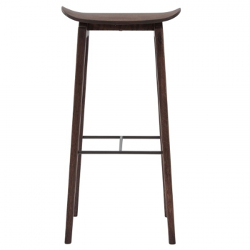Výprodej Norr 11 designové barové židle NY11 (výška sedáku 65 cm, dub mořený tmavý, bez čalounění)