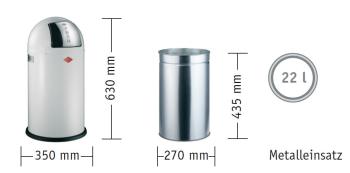 Výprodej Wesco odpadkové koše Pushboy 22 litrů (růžová)
