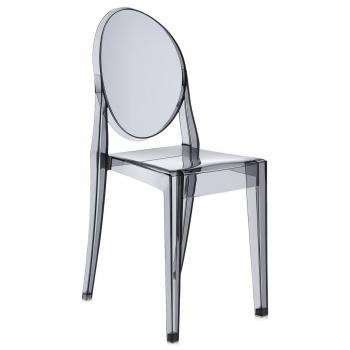 Výprodej Kartell designové židle Victoria Ghost (transparentní kouřová)