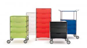 Kartell designové kancelářské kontejnery Mobil (5x zásuvka)
