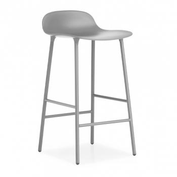Výprodej Normann Copenhagen designové barové židle Form Barstool Steel (65 cm, černá)