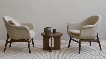 Menu designové odkládací stolky Androgyne Side Table (průměr 40 cm)