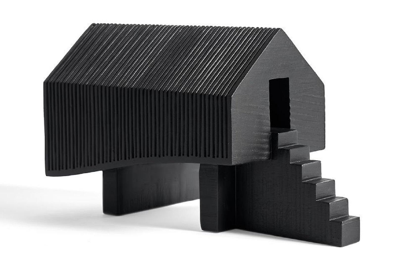 Ethnicraft designové dekorace Black Stilt House object
