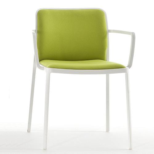 KARTELL židle Audrey Armchair soft bílá