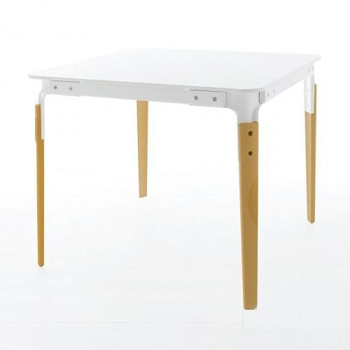MAGIS jídelní stoly Steelwood Table čtvercové (90 x 76 x 90 cm)