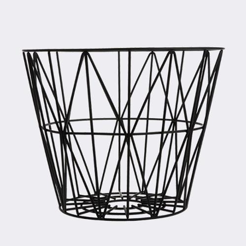 Designové konferenční stoly FERM LIVING Wire Basket S (černá, bez víka)