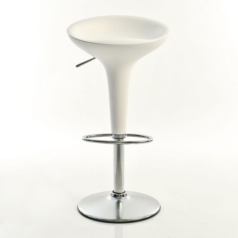 Výprodej Magis designové barové židle Bombo Stool Adjustable (bílá, 61 - 85 cm)