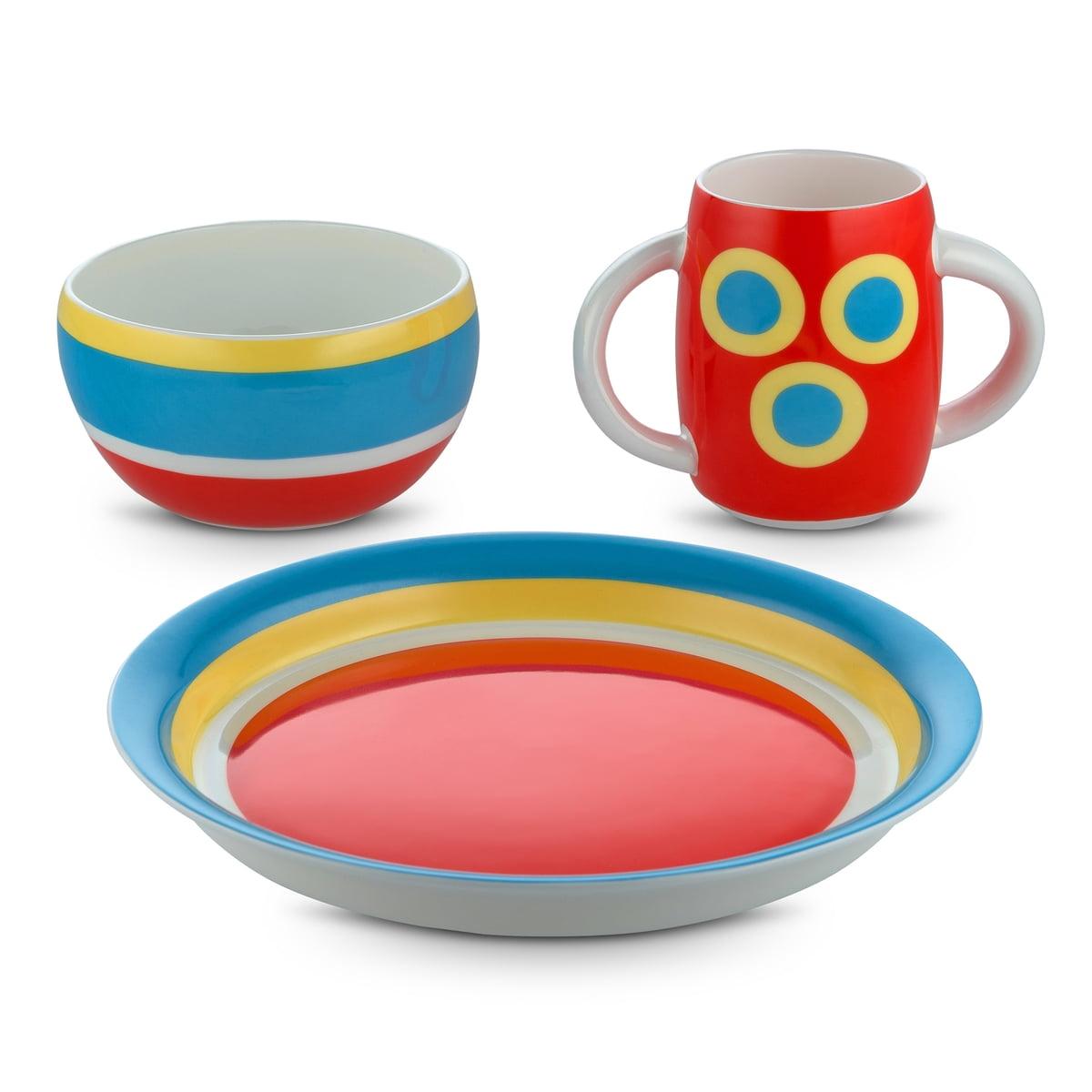 Alessi designové dětské jídelní sety Alessini Con - Centrici