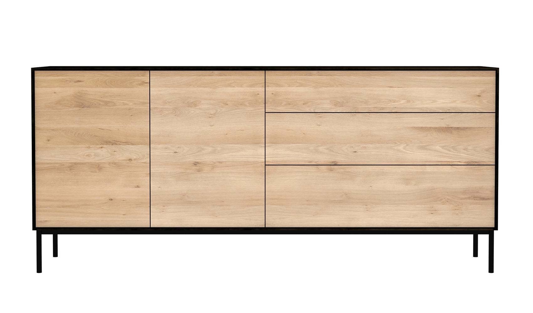 Levně Ethnicraft designové komody Blackbird - 2 doors/ 3 drawers