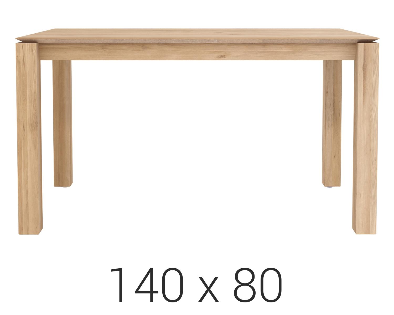 Ethnicraft designové jídelní stoly Slice Dining Table (140 x 76 x 80)