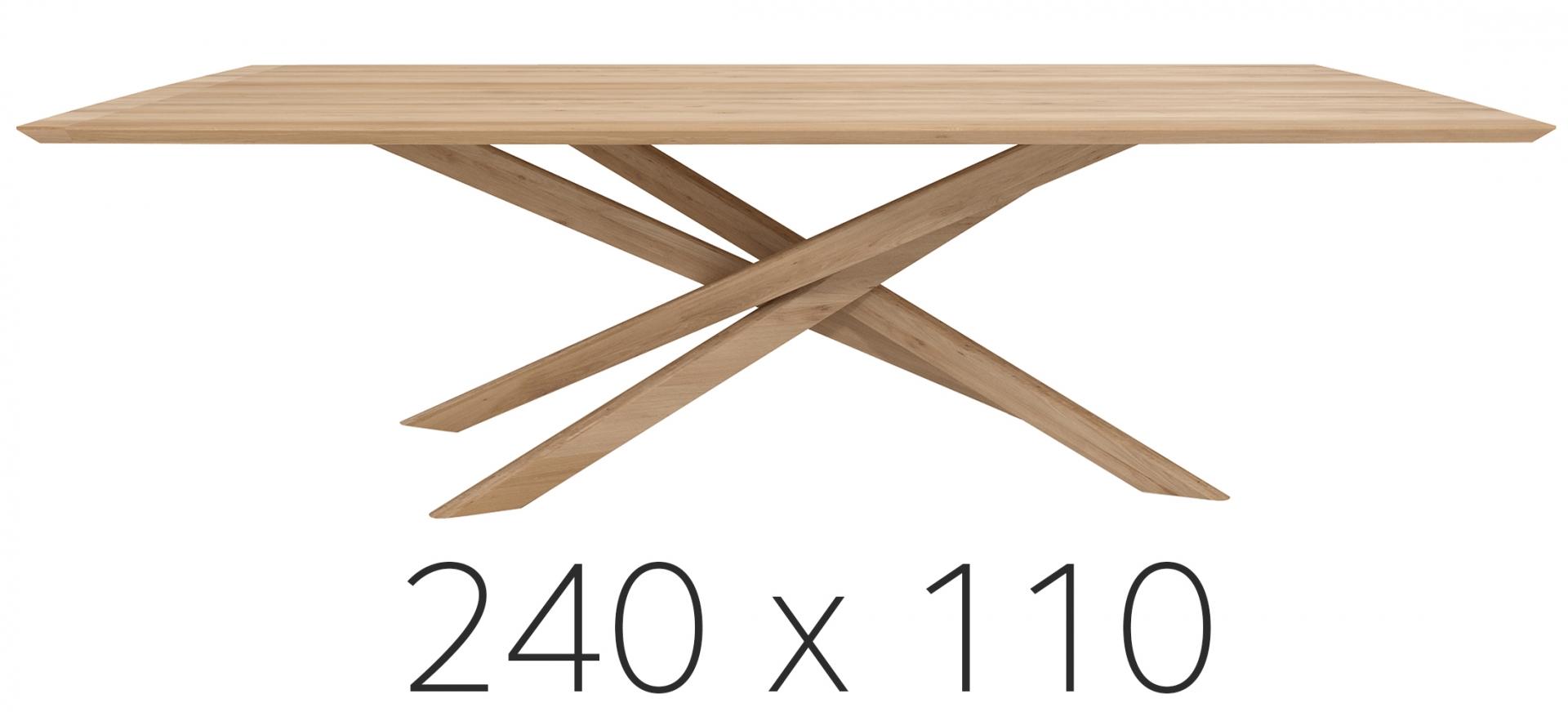 Ethnicraft jídelní stoly Mikado Dining Table (240 x 76 x 110 cm)
