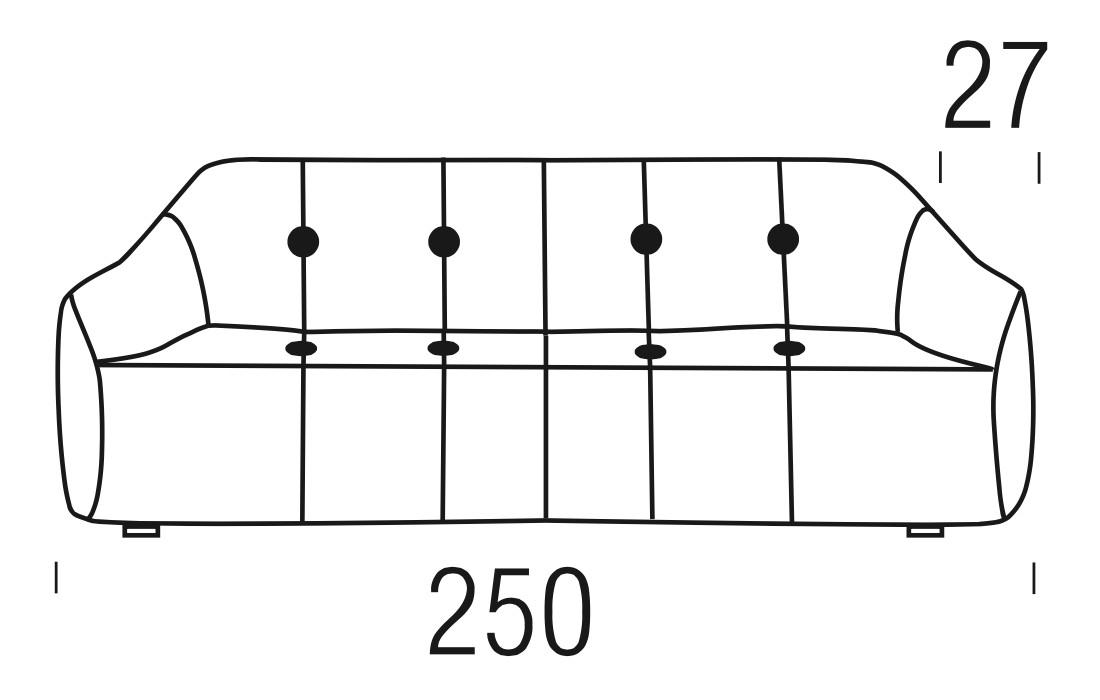 Beltá / Frajumar designové sedačky Ovvo 250cm