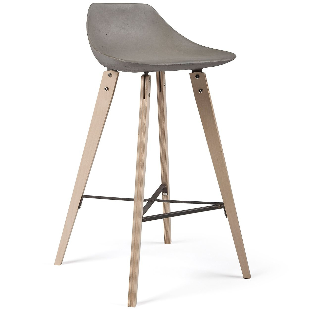 Lyon Beton designové barové židle Hauteville Plywood
