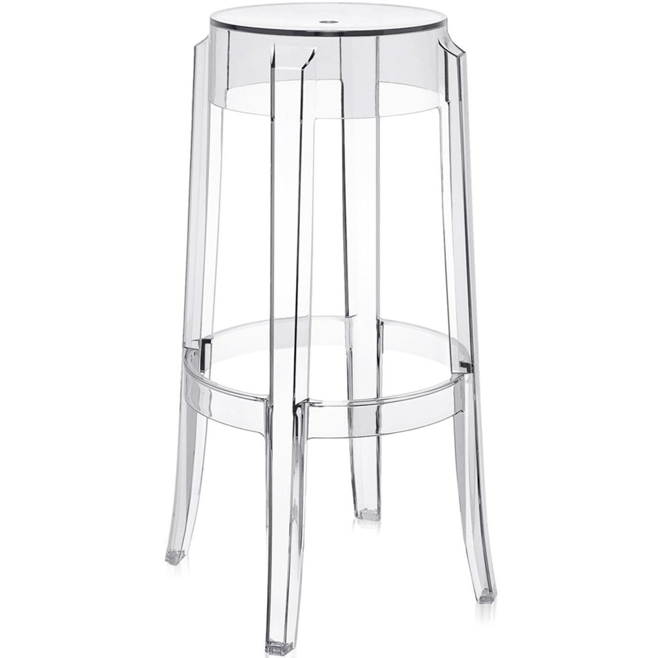 Kartell barové židle Charles Ghost (75 cm)