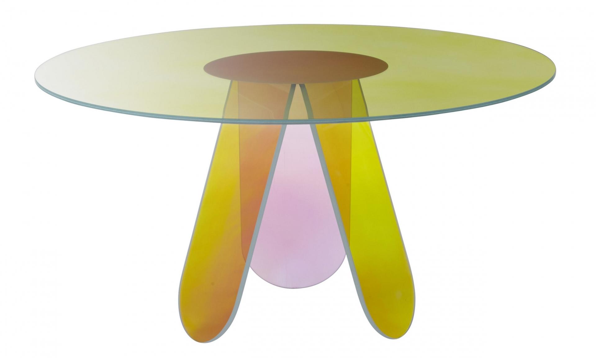 Glas Italia designové jídelní stoly Shimmer (průměr 120 cm)