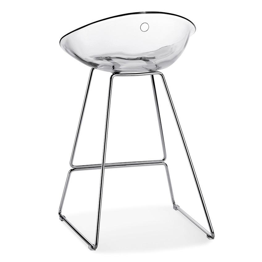 Výprodej Pop up Home designové barové židle Gliss Sledge (čirá, výška sedáku 65 cm)