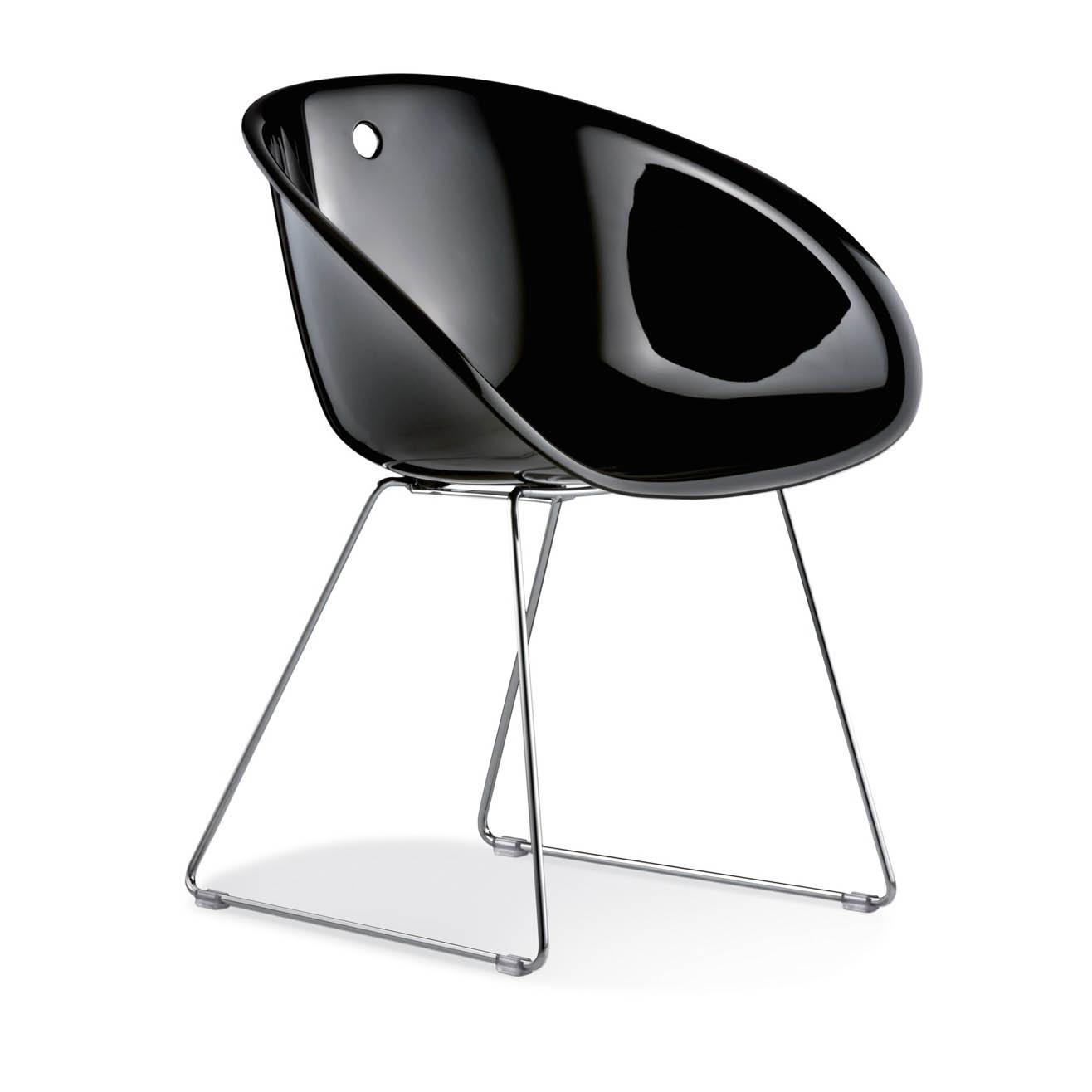 Výprodej Pop up Home židle Gliss Sledge (černá, podnož crom)