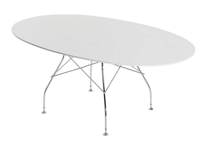 Kartell designové jídelní stoly Glossy oválné