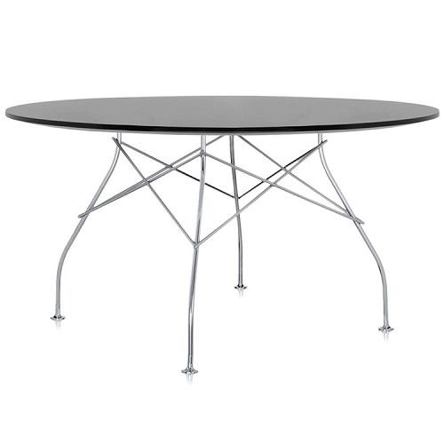 Kartell designové jídelní stoly Glossy kulaté