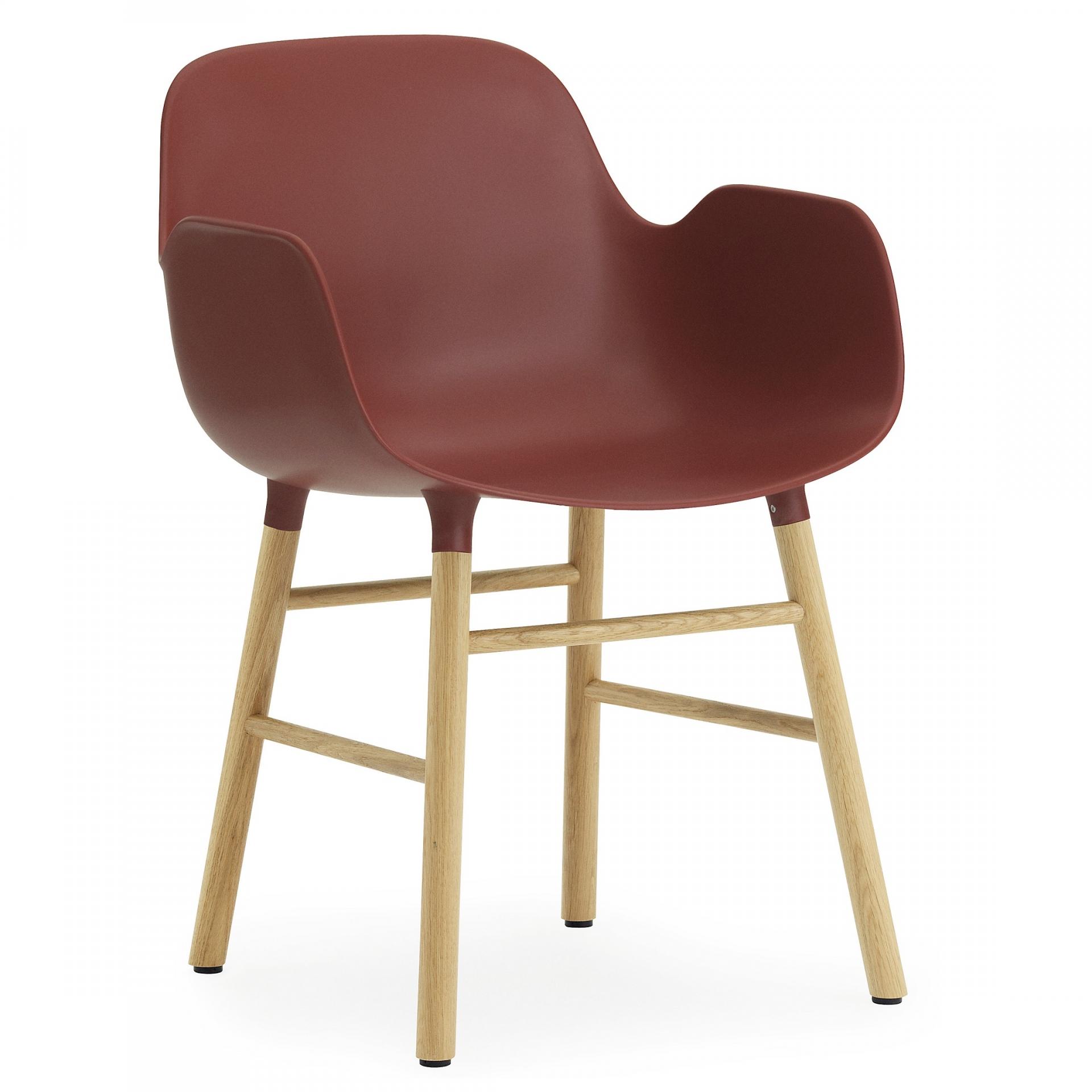 Výprodej Normann Copenhagen designové židle Form Armchair Wood (červená skořepina/ dubová konstrukce)