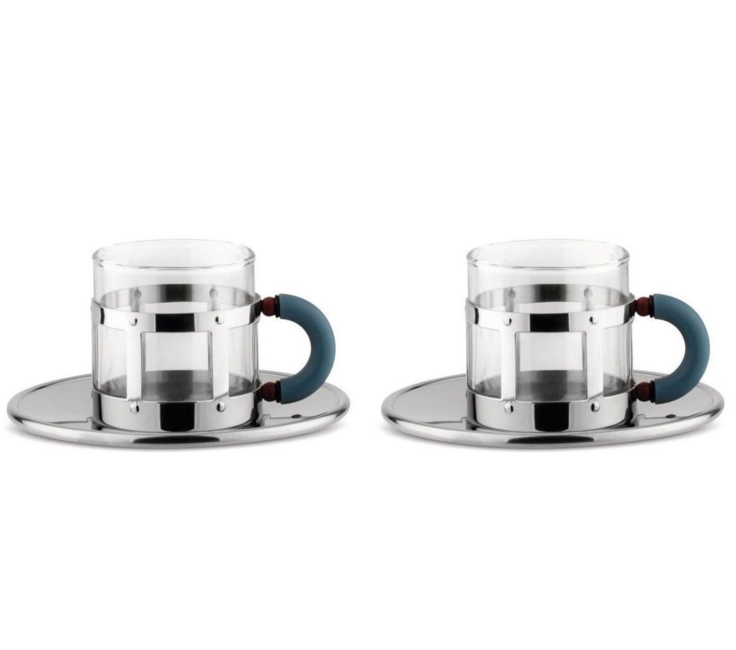 Alessi designový Set 2 šálků na kávu Graves