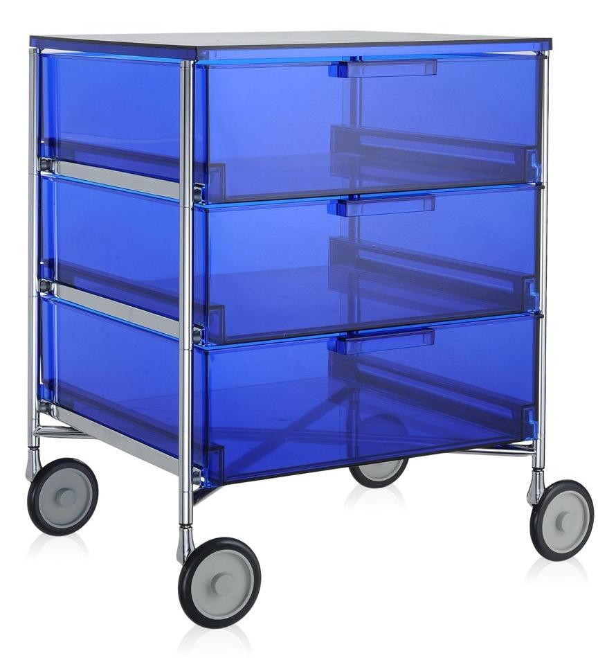 Kartell designové kancelářské kontejnery Mobil (3x zásuvka)