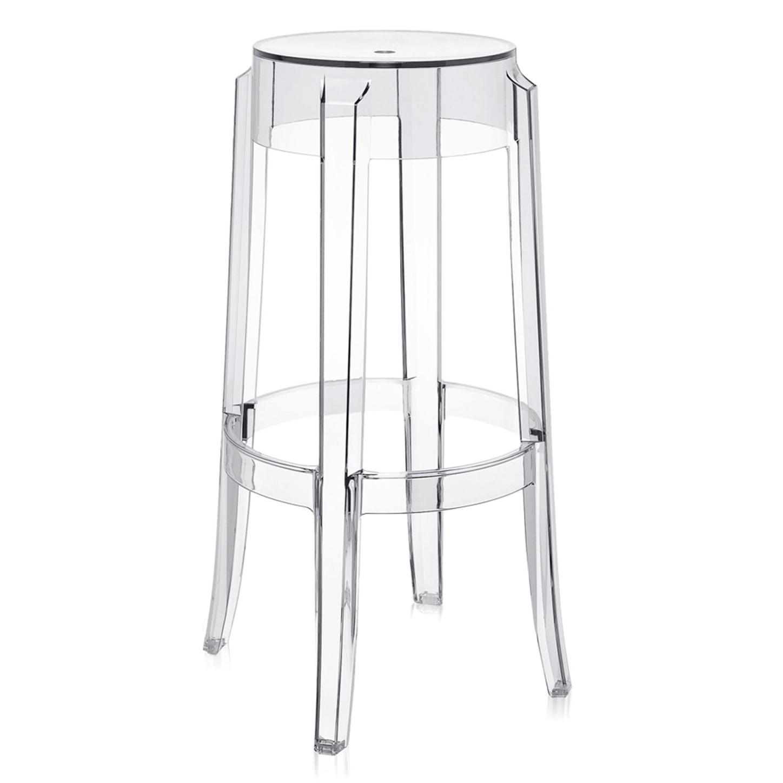 Kartell barové židle Charles Ghost (výška 75 cm)