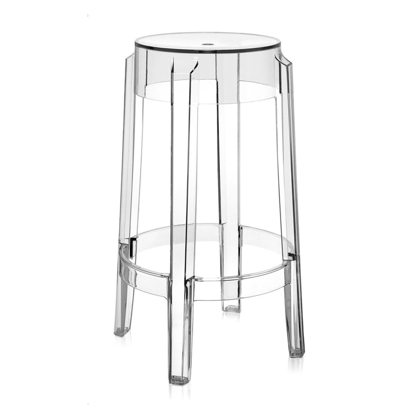 Kartell barové židle Charles Ghost (výška 65 cm)