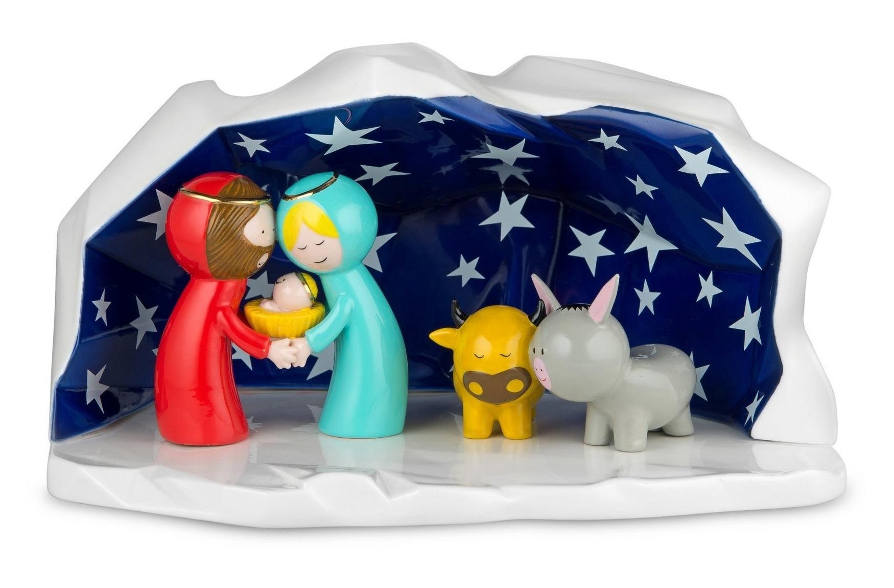 Alessi designové vánoční betlémy Happy Eternity Baby