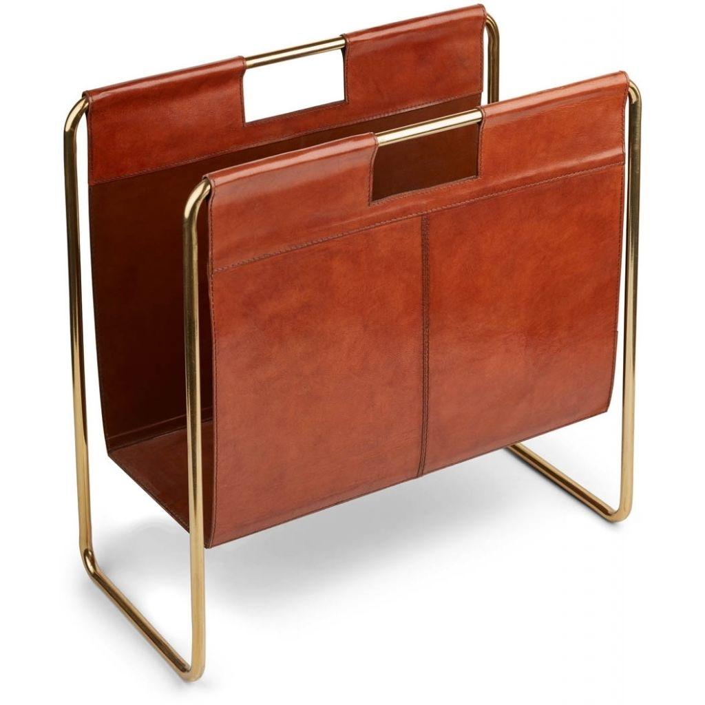 Natures Collection designové stojany na noviny Calf Leather Magazine Holder