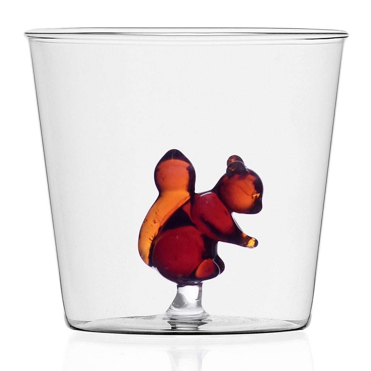 Ichendorf Milano designové sklenice na vodu Animal Farm Tumbler Squirrel