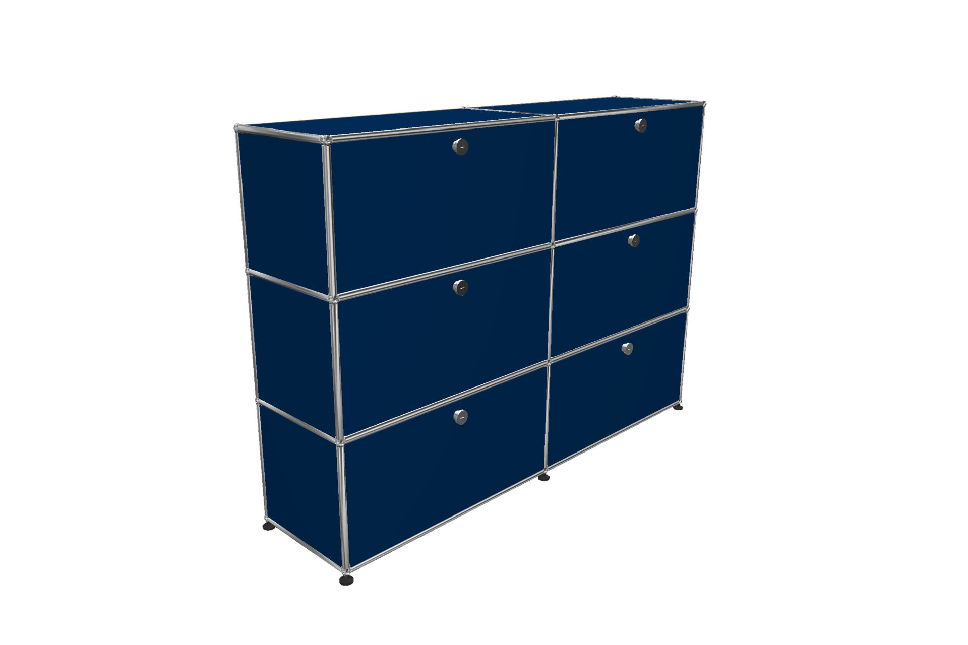 Výprodej USM Haller designové regály (hořecová modrá)