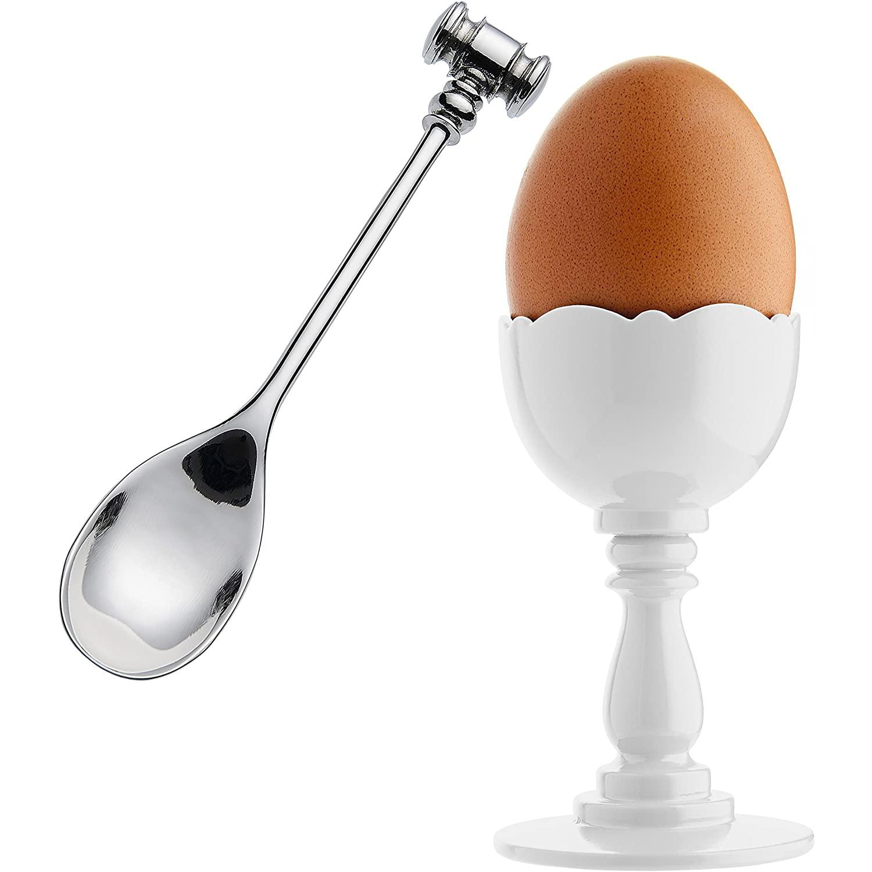 Alessi designové plastové držáky na vajíčka se lžičkou Dressed