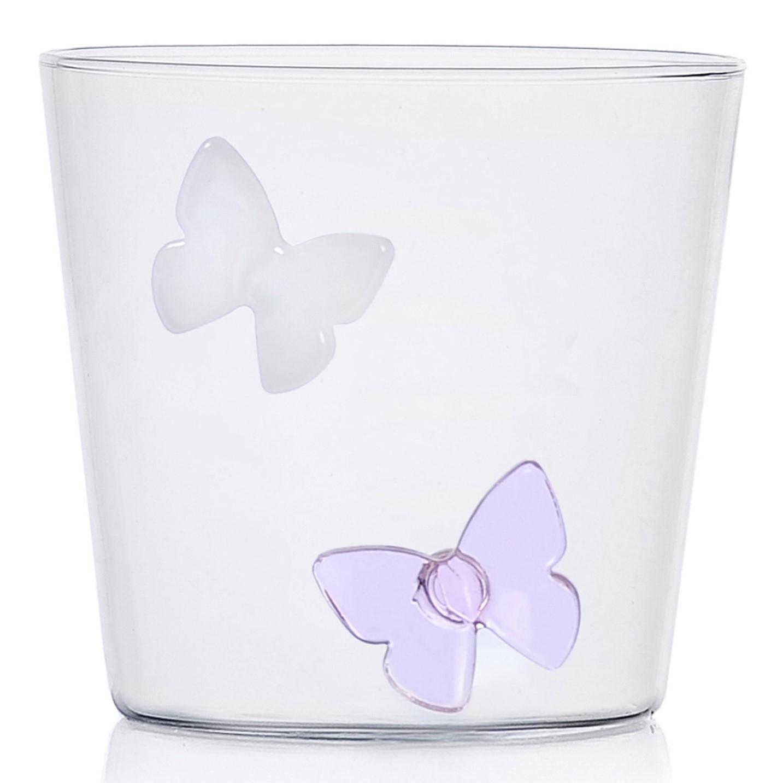 Ichendorf Milano designové sklenice na vodu Greenwood Butterflies Tumbler