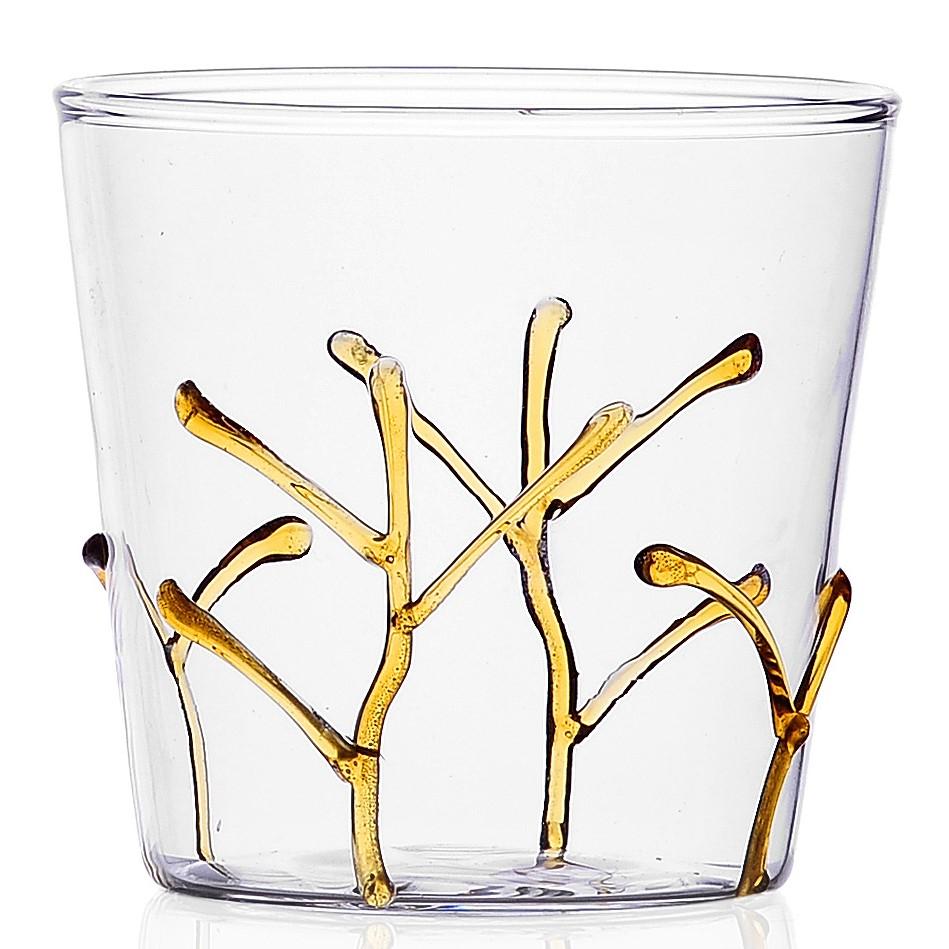 Ichendorf Milano designové sklenice na vodu Greenwood Amber Branches Tumbler