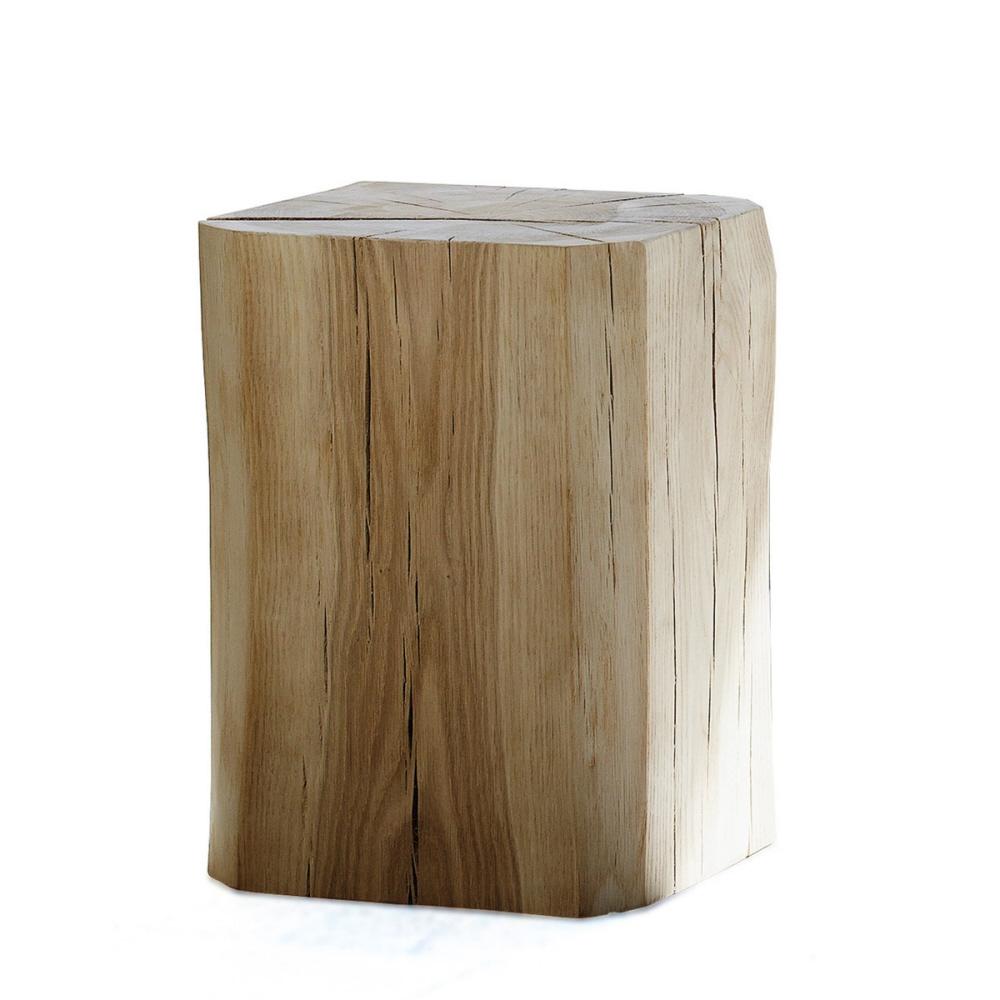 Designové zahradní stoličky JAN-KURTZ Block Hocker (hranatý, jasan 29x29x46cm)