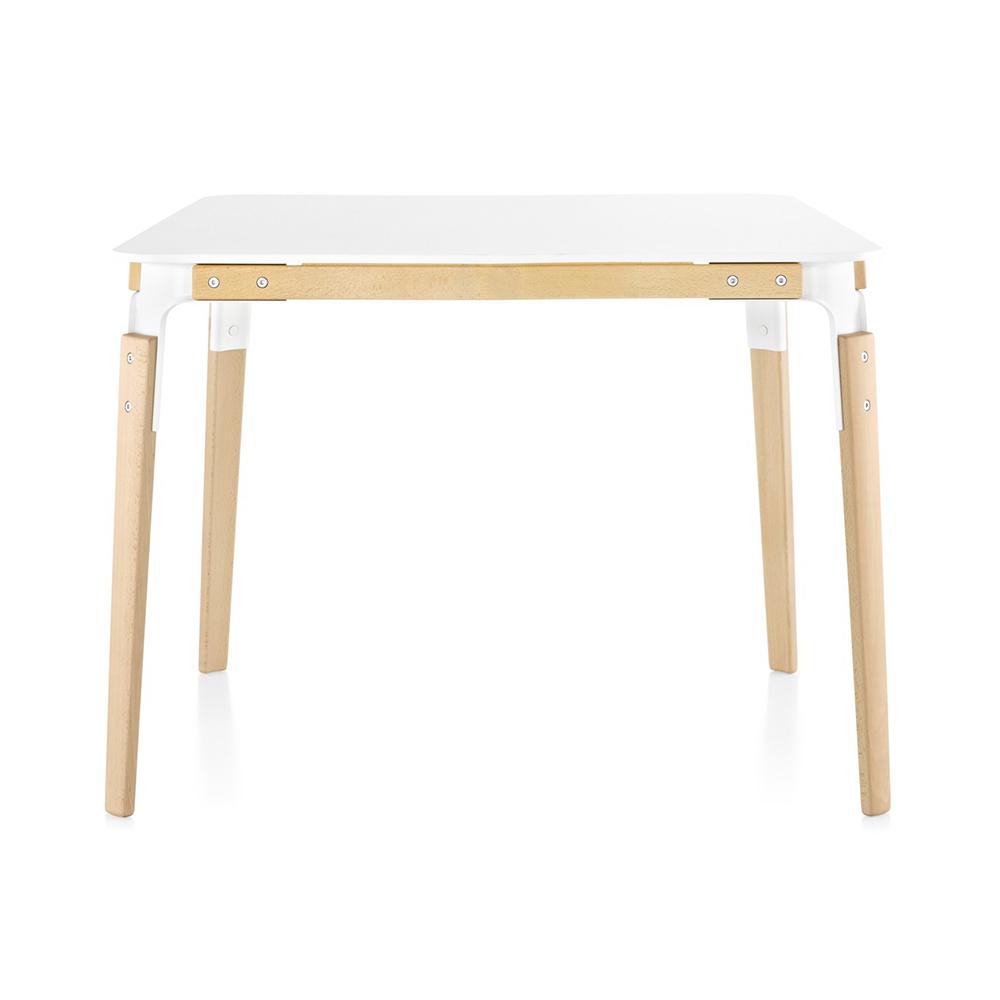 Magis jídelní stoly Steelwood Table Square (90 x 76 x 90 cm)