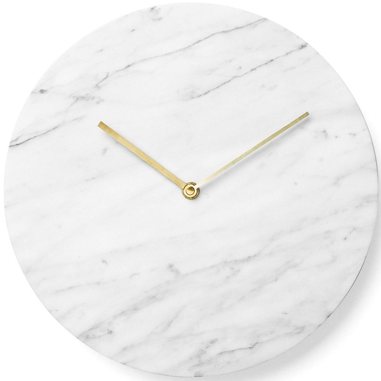 Menu designové nástěnné hodiny Marble Wall Clock