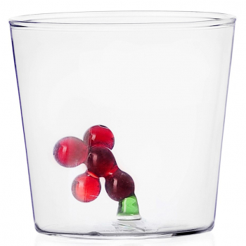 Designové sklenice na vodu Greenwood Red Berries