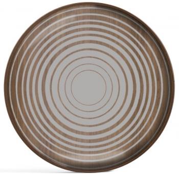 Designové podnosy Round Glass Valet Tray
