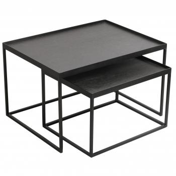 Designové konferenční stolky Rectangle Tray Coffee Table Set