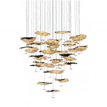 Designová závěsná svítidla Gold Moon Chandelier