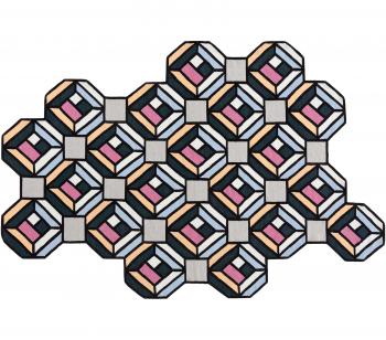 Designové koberce Parquet Tetragon