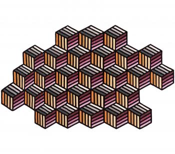 Designové koberce Parquet Hexagon